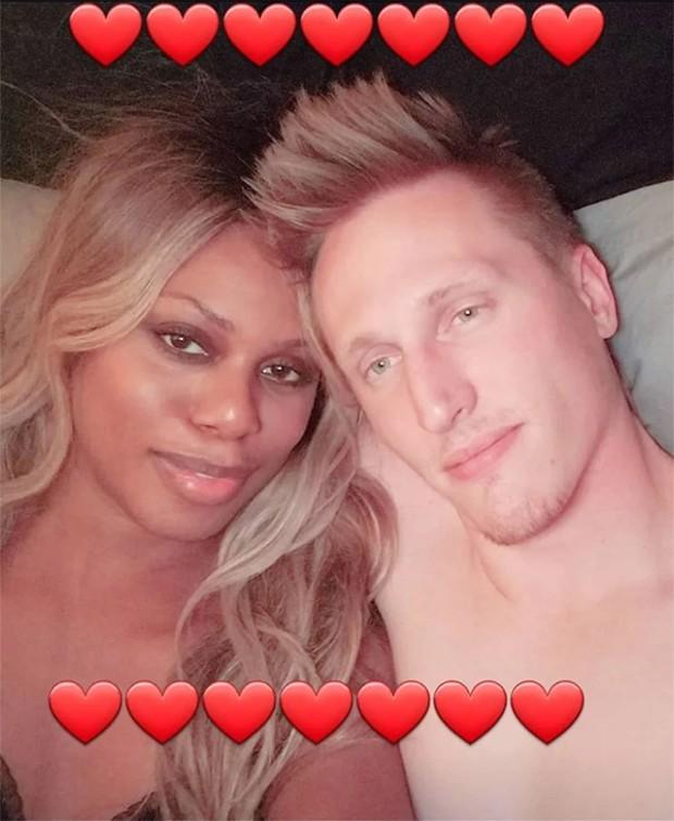 Laverne Cox e o namorado (Foto: Reprodução/Instagram)