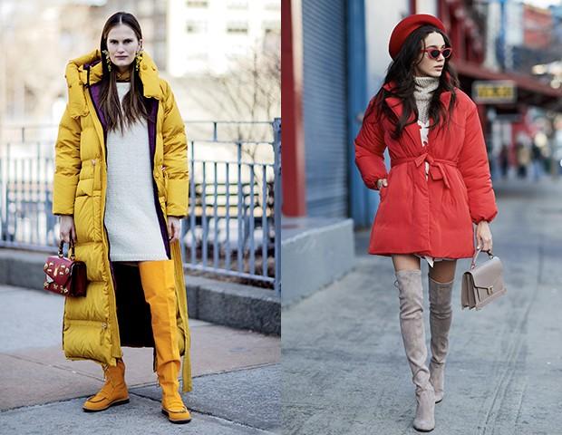 Os modelos altíssimos são um destaque no street style e vão bem com vestidos também (Foto: Imaxtree)