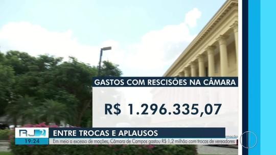 Trocas de vereadores na Câmara de Campos, RJ, custaram mais de R$ 1 milhão aos cofres públicos