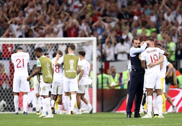 Seleção da Inglaterra após derrota para a Croácia na Copa do Mundo 2018 (Foto: Getty Images)