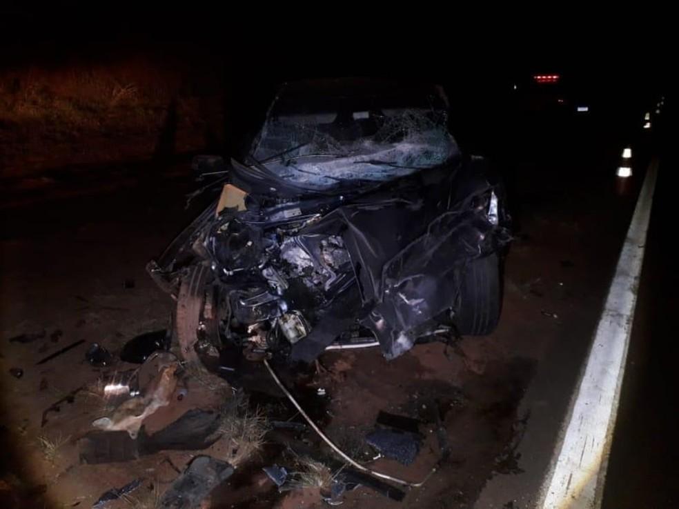 Filha do motorista do veículo que foi atingido de frente pelo carro de uma funerária na SP-331 em Balbinos fez cirurgia e está internada — Foto: Reprodução/ Redes Sociais