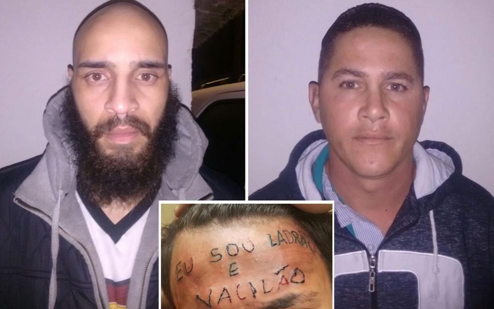 O tatuador Maycon Reis e o vizinho Ronildo Moreira foram presos por torturar adolescente em São Bernardo do Campo — Foto: Divulgação/Polícia civil