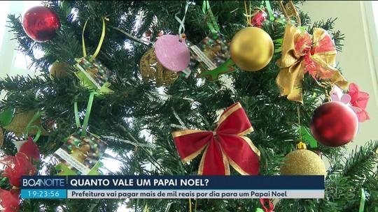Por contrato de R$ 1 mil por dia, Prefeitura de Pinhais exige que Papai Noel não faça 'promessas falsas'
