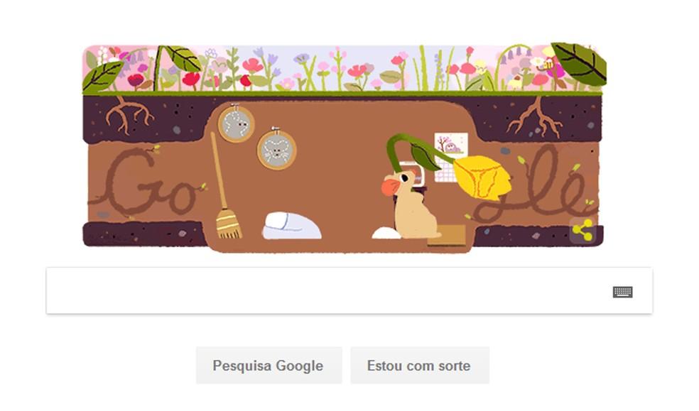 Google cria doodle sobre Equinócio de Primavera. (Foto: Reprodução/Google)