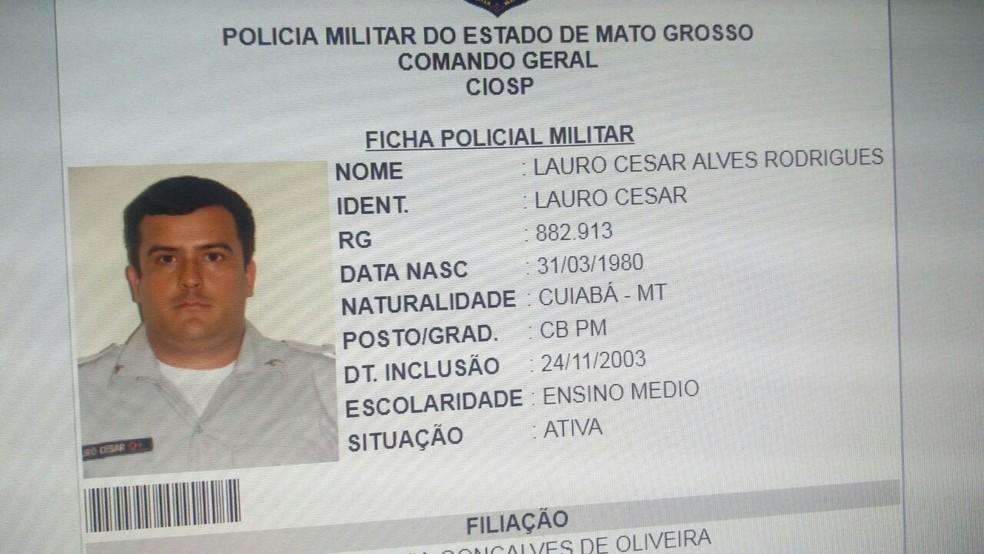 Lauro César Alves Rodrigues trabalha como motorista da Uber quando foi morto (Foto: Polícia Civil/Divulgação)