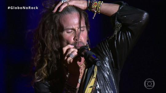Aerosmith acerta em antigos hits, exagera nos covers e tem ajuda de 'voz do além' para ganhar Rock in Rio