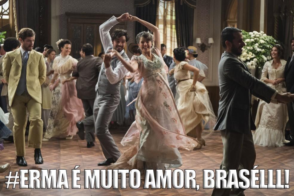 Logo se transformaram em um dos casais mais shippados das redes sociais (Foto: Raquel Cunha/TV Globo)