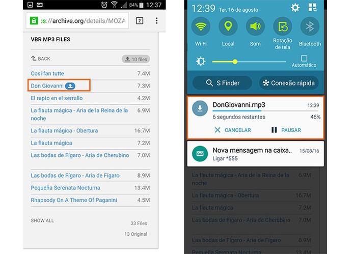 Baixe músicas de sites usando o Chrome no Android (Foto: Reprodução/Barbara Mannara)