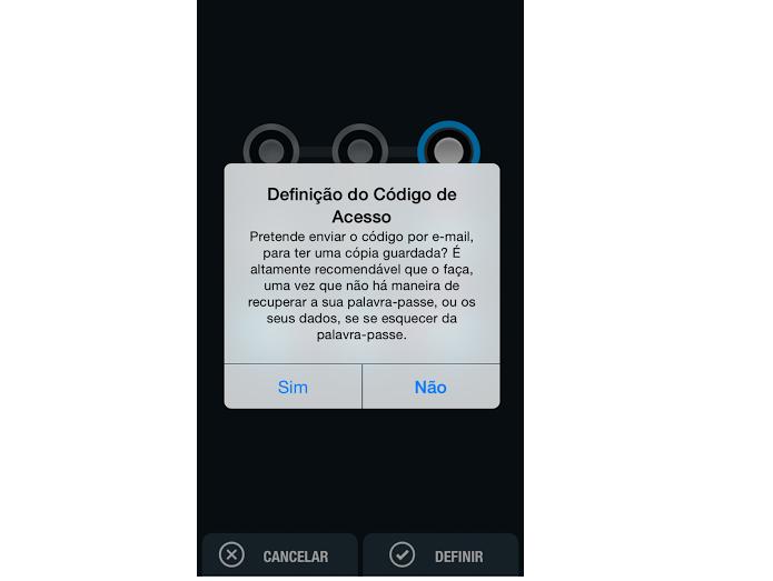 Envie cópia do código para o e-mail, para não esquecer (Foto: Reprodução/Thiago Barros)