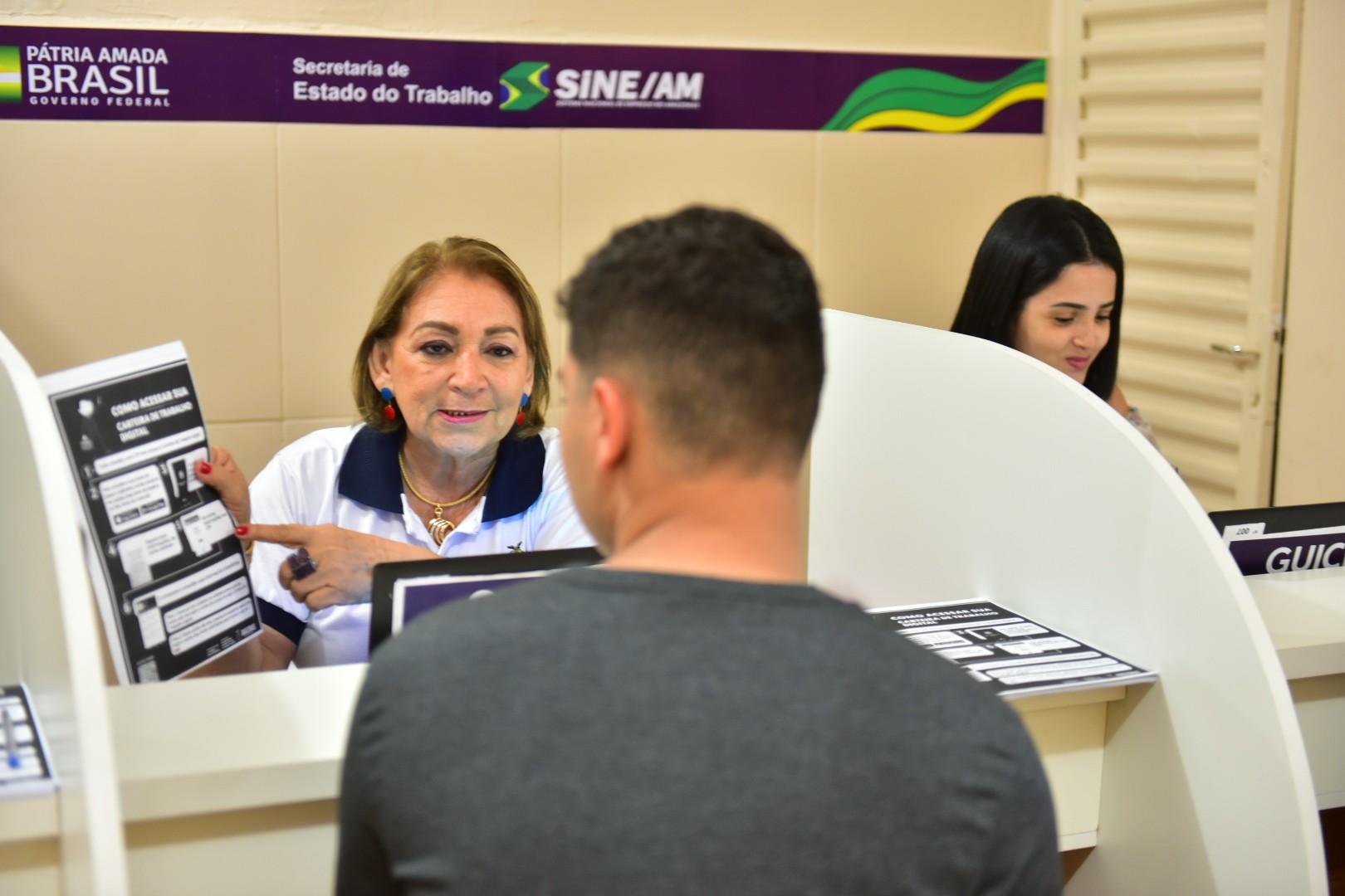 Manaus tem 40 vagas de emprego em diversas áreas para esta sexta (23) no Sine; veja como concorrer