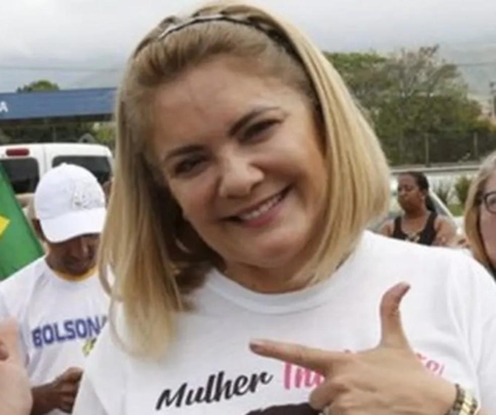 Ana Cristina Siqueira Valle, ex-mulher do presidente Jair Bolsonaro — Foto: Reprodução