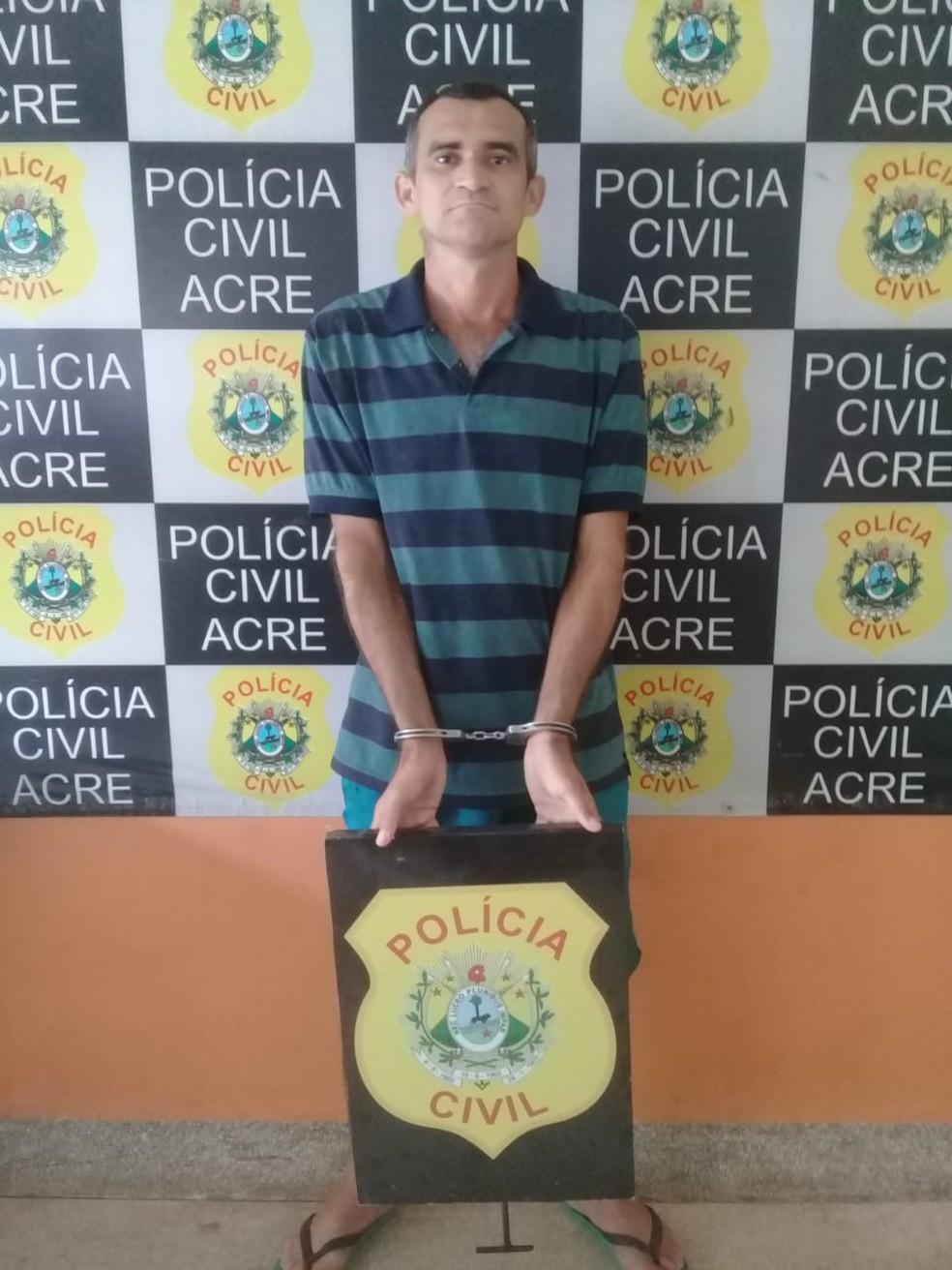 Valdecir Souza foi preso nesta sexta-feira (27) em Cruzeiro do Sul — Foto: Divulgação/Polícia Civil do Acre