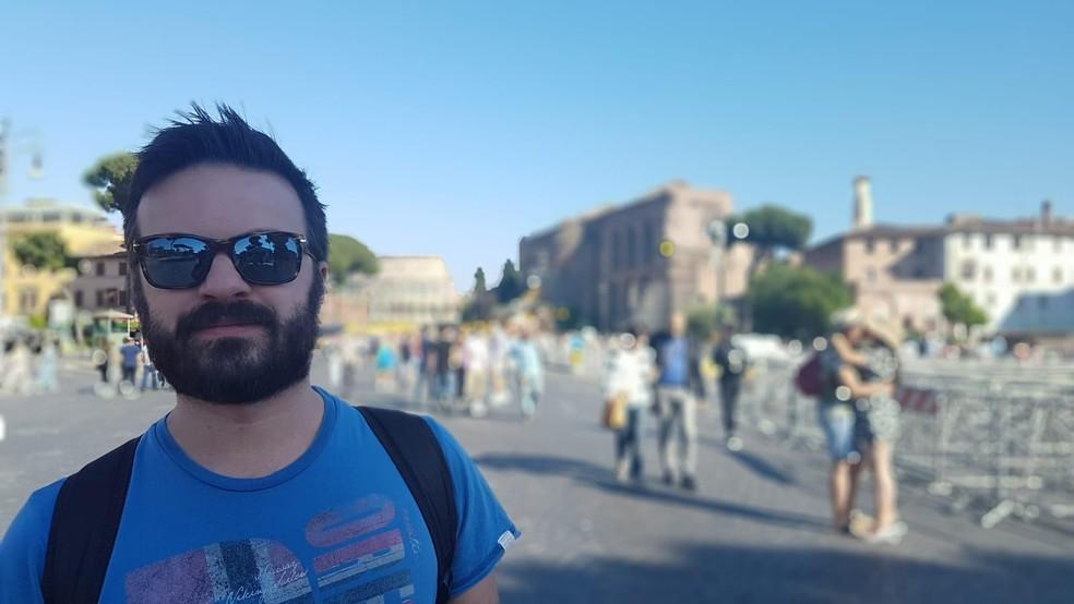 Thiago Forte Sepulveda, 33 anos, relata clima de apreensão entre moradores de Milão por conta de surto de coronavírus — Foto: Thiago Forte Sepulveda/Arquivo Pessoal
