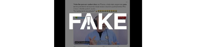 É #FAKE que vídeo mostre Lula bêbado ao criticar Bolsonaro