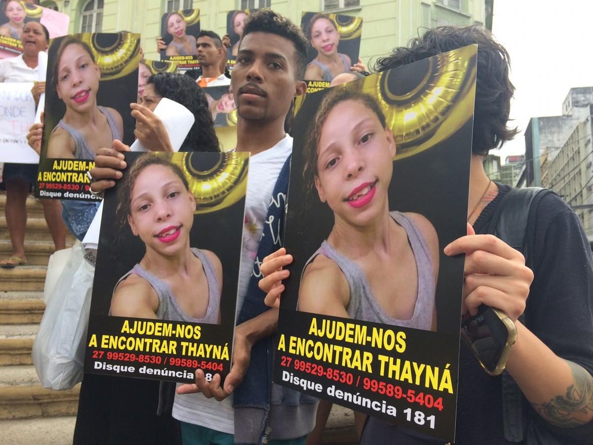 Protesto pede ajuda para encontrar menina desaparecida no ES