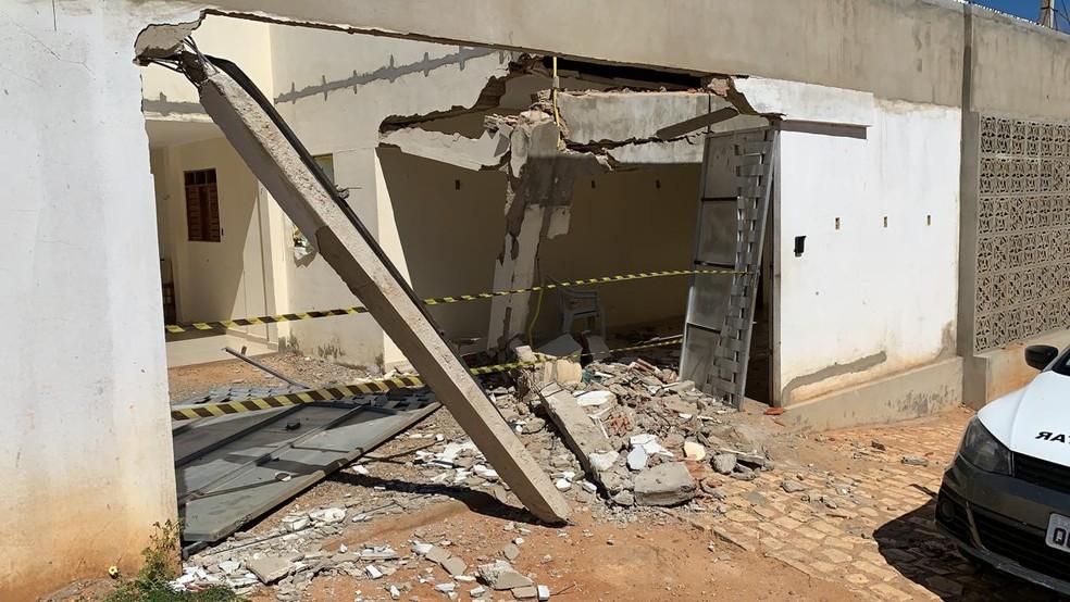 Casa de vereador foi alvo de criminosos em João Dias, RN — Foto: Clodoeudes Fernandes/Cedida