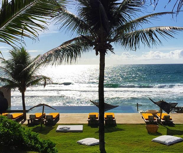 Hotel luxuoso que Luciano e Flávia estão hospedados (Foto: Reprodução)