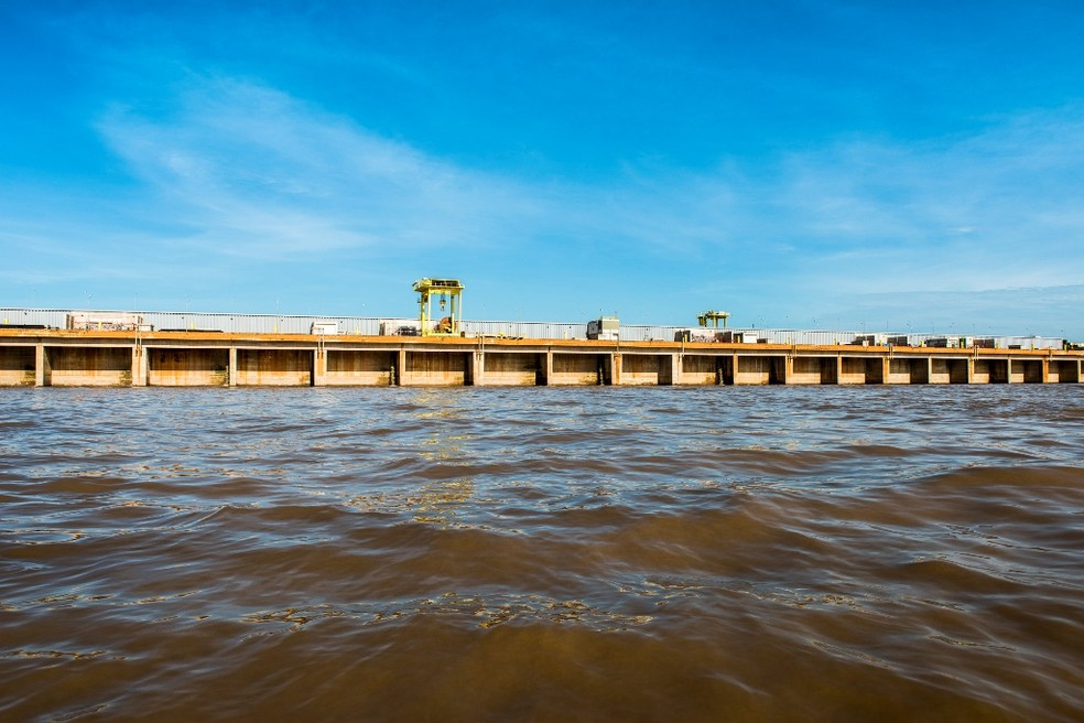Hidrelétrica Santo Antônio também está na lista de potencial dano, mas baixo risco — Foto: Assessoria/Divulgação