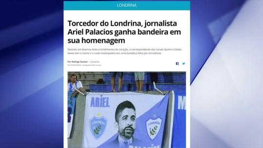 Ariel Palacios é homenageado pela torcida do Londrina