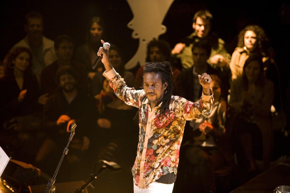 Luiz Melodia homenageia as origens do samba em seu show (Foto: Divulgação)