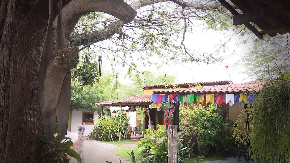 Casa de Cumpade no Distrito de Galante oferece turismo rural  — Foto: Reprodução/TV Paraíba