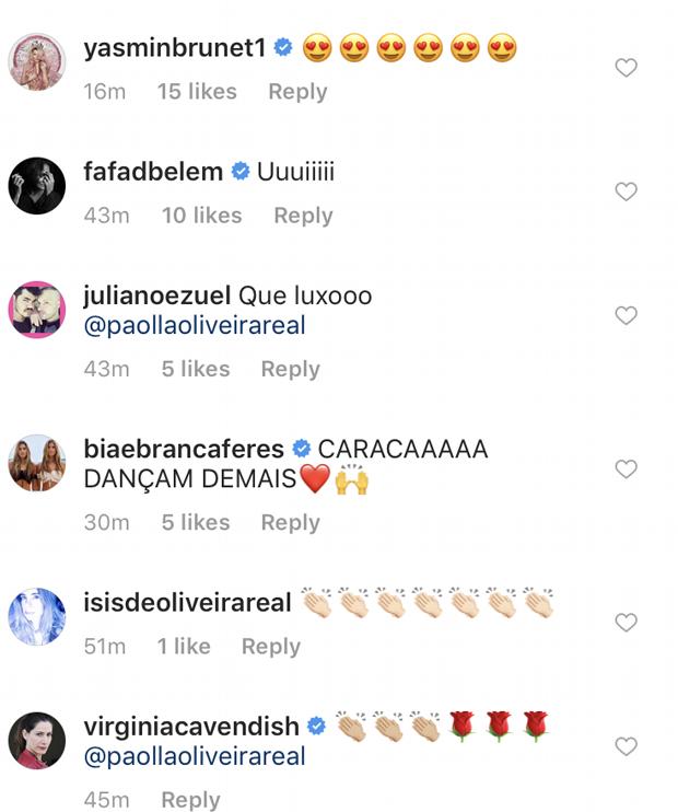 Famosos elogiam Paolla Oliveira em vídeo dançando na web (Foto: Reprodução Instagram)