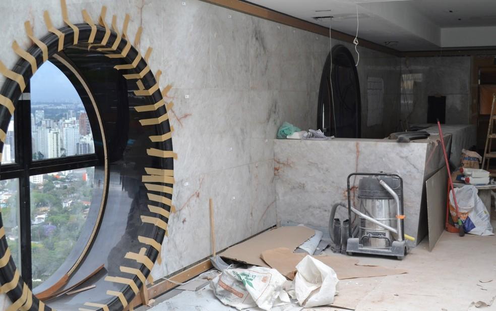 Interior de apartamento do vice-presidente da Guiné, nos Jardins, em São Paulo — Foto: Divulgação/Polícia Federal