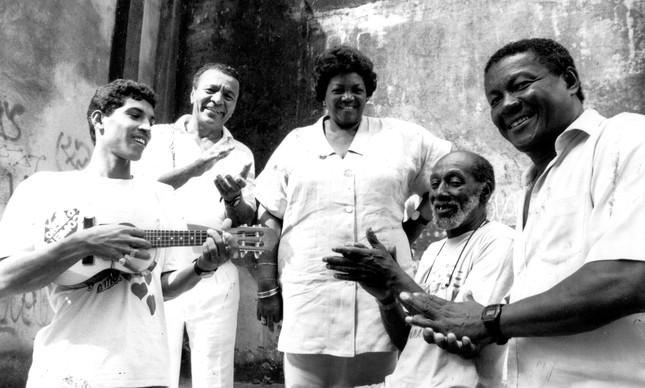 Luizinho do Cabuçu (cavaquinho), Monarco, Nelson Sargento e Wilson Moreira
