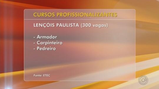 Programa oferece mais de 500 vagas para cursos de qualificação no Centro-Oeste Paulista
