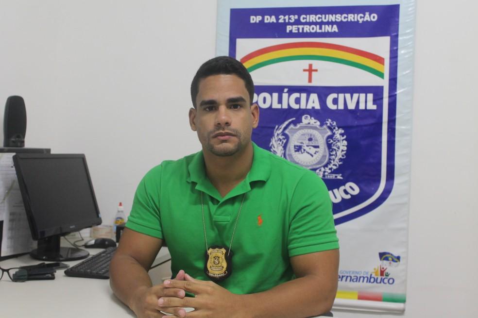 O delegado Gregório Ribeiro acompanha o caso (Foto: Emerson Rocha)