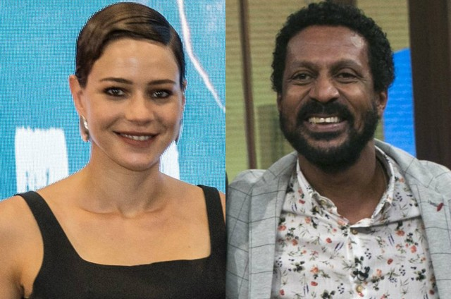 Leandra Leal e Luis Miranda (Foto: TV Globo)
