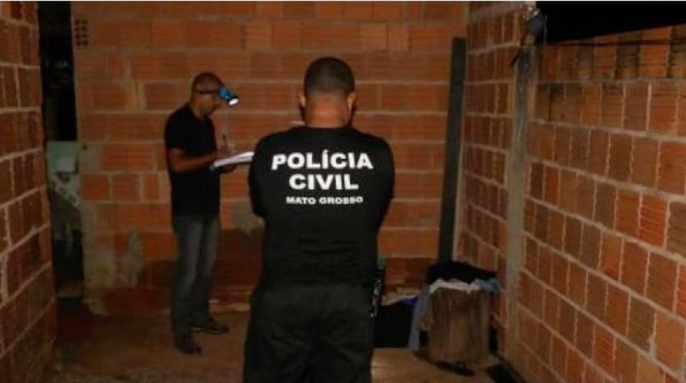 Perícia foi realizada no local do crime — Foto: TVCA/Reprodução