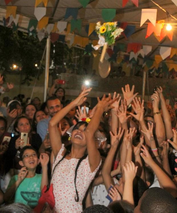 Gleici Damasceno em festa junina (Foto: Daniel Delmiro AG NEWS)