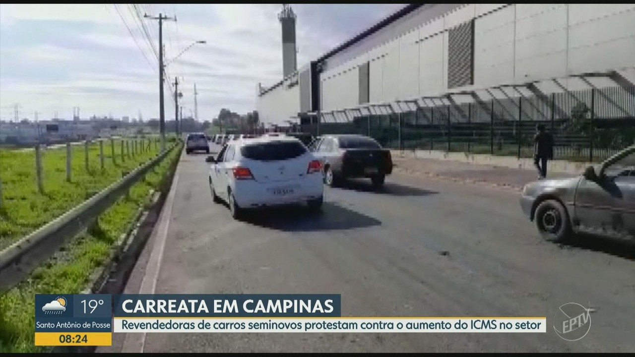 Revendedores de carros seminovos protestam contra aumento do ICMS no setor