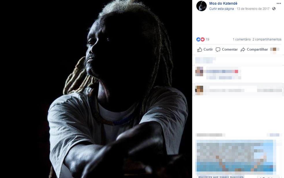 Mestre de capoeira Moa do Katendê foi morto a facadas em um bar na Bahia  — Foto: Reprodução/Facebook