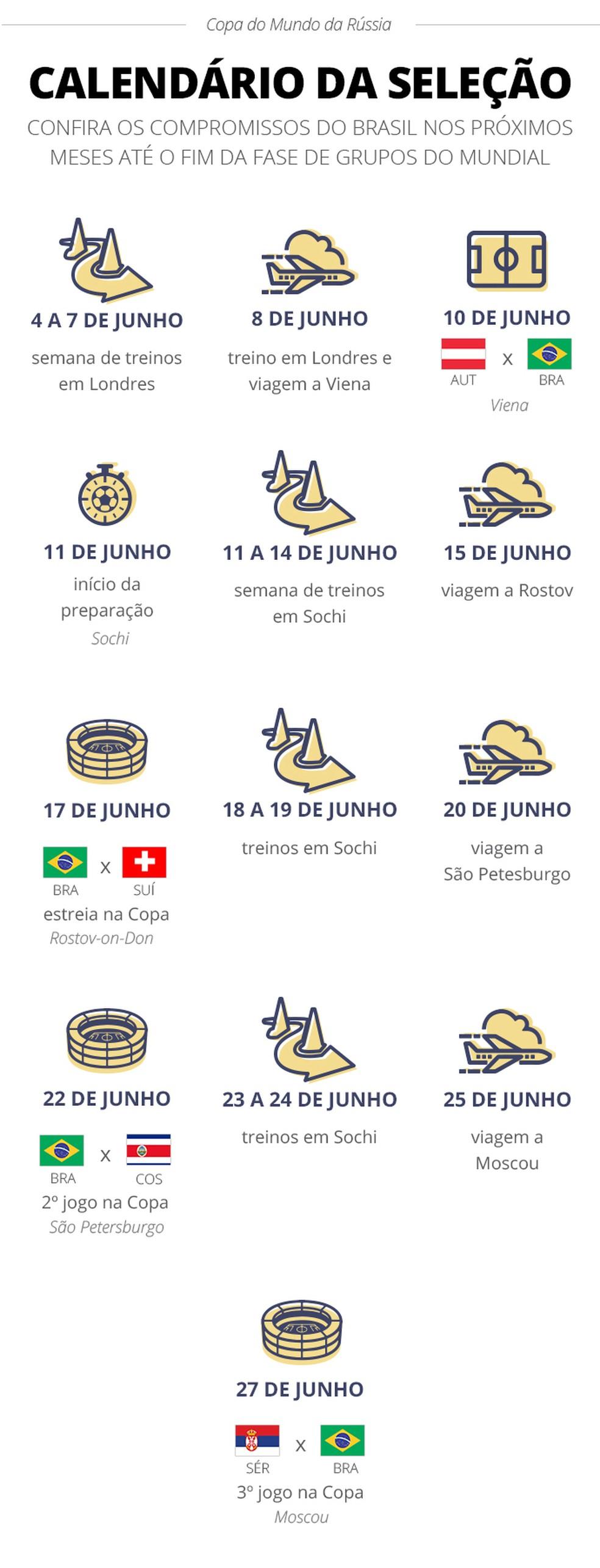Calendario Selecao (Foto: infoesporte)