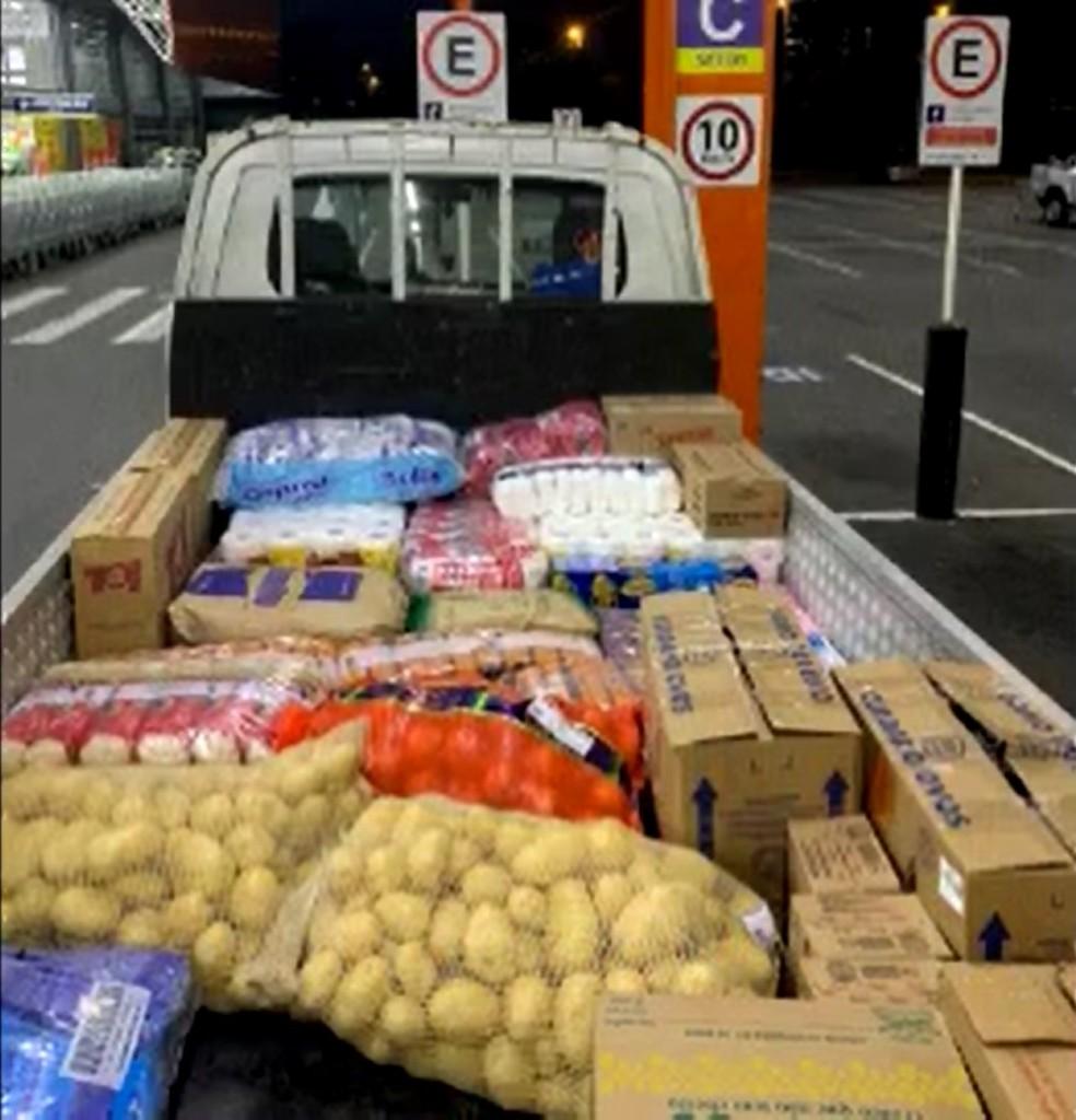 Donations from Paulinho to the shelter Recanto Vida Nova - Photo: Disclosure