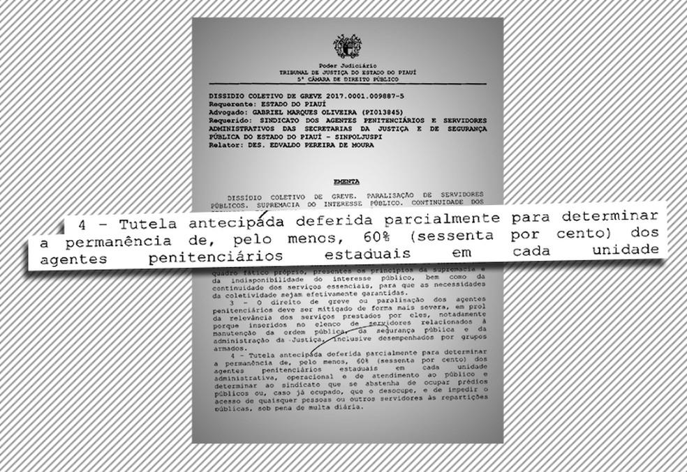 Documento diz que a multa é de R$ 10 mil por dia em caso de descumprimento (Foto: Reprodução )