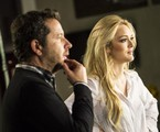 Isabelle Drummond e o diretor Maurício Guimarães   Aline Massuca/TV Globo