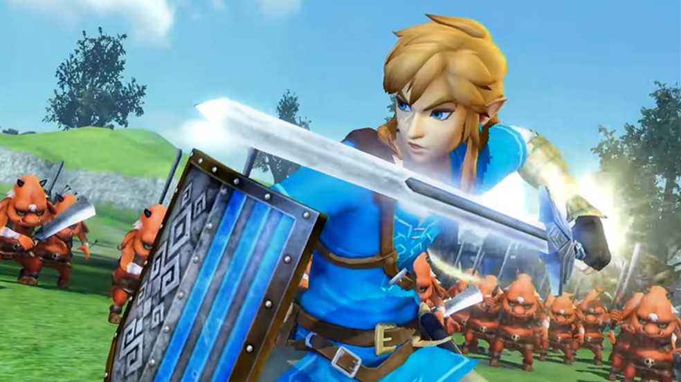 Hyrule Warriors Definitive Edition terá Link e Zelda de Breath of the Wild (Foto: Reprodução/YouTube)