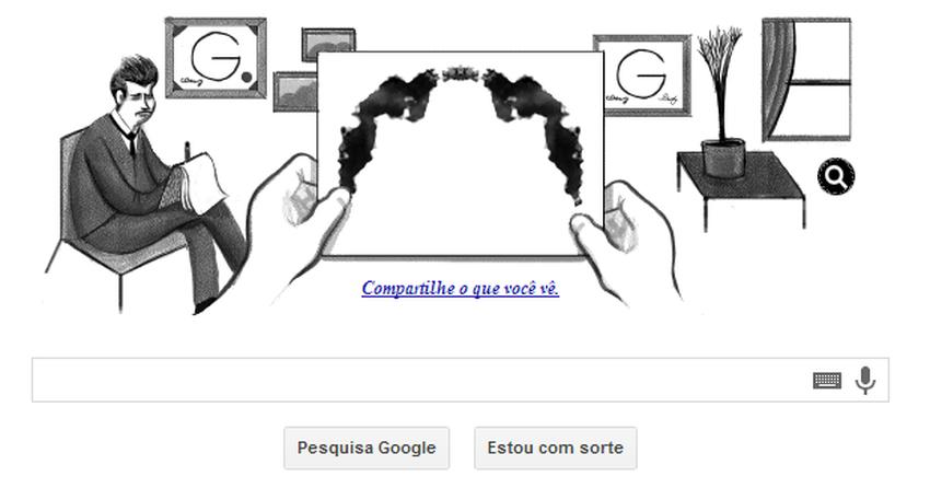 Hermann Rorschach é tema de Doodle do Google com teste virtual