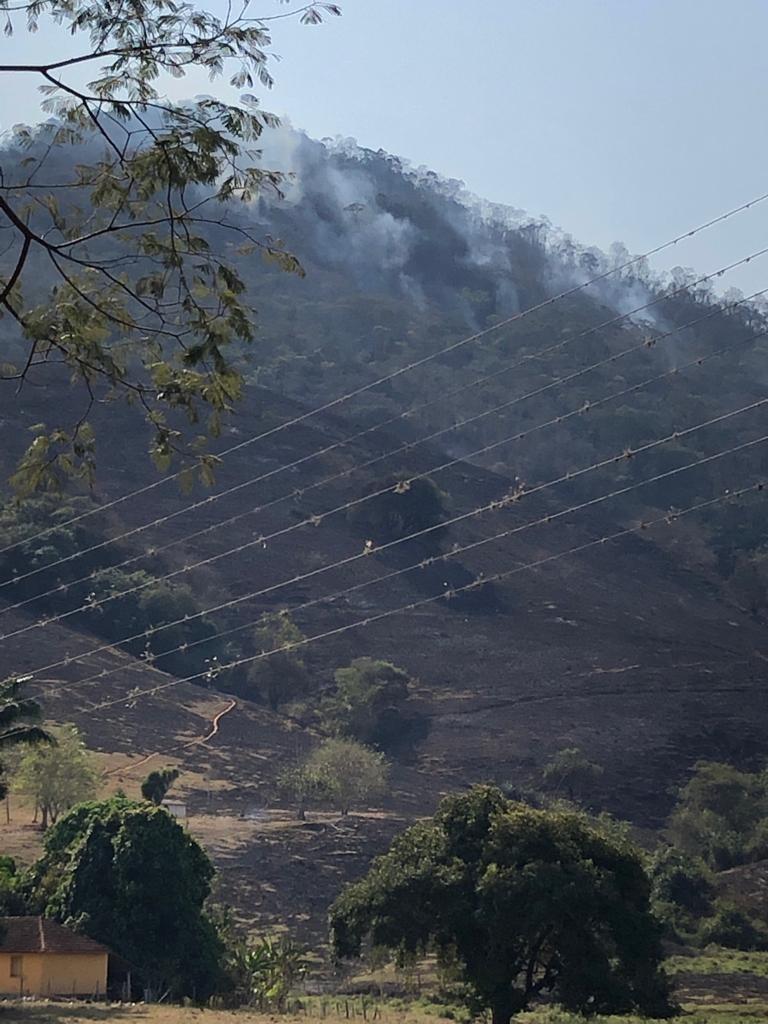 Bombeiros combatem queimada em  área de proteção ambiental em Natividade, no RJ  - Notícias - Plantão Diário