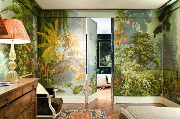Efeito cênico - paisagens pintadas em murais ou papéis de parede (Foto: Divulgação)