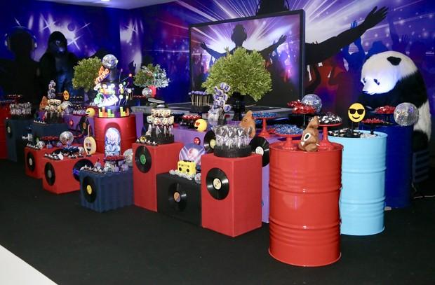 Detalhe da decoração da festa de 8 anos de Vittorio (Foto: Manuela Scarpa/Brazil News)