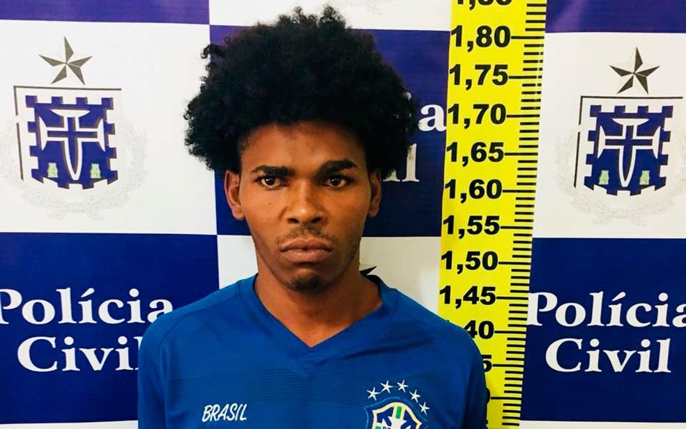 Luiz Carlos foi preso em Feira de Santana, na Bahia (Foto: Divulgação / Polícia Civil)