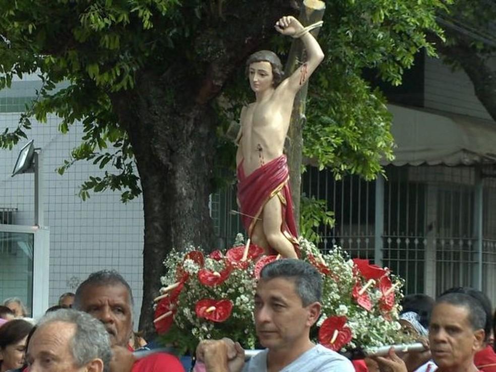 São Sebastião é o padroeiro de Ouricuri. — Foto: Reprodução/ TV Gazeta