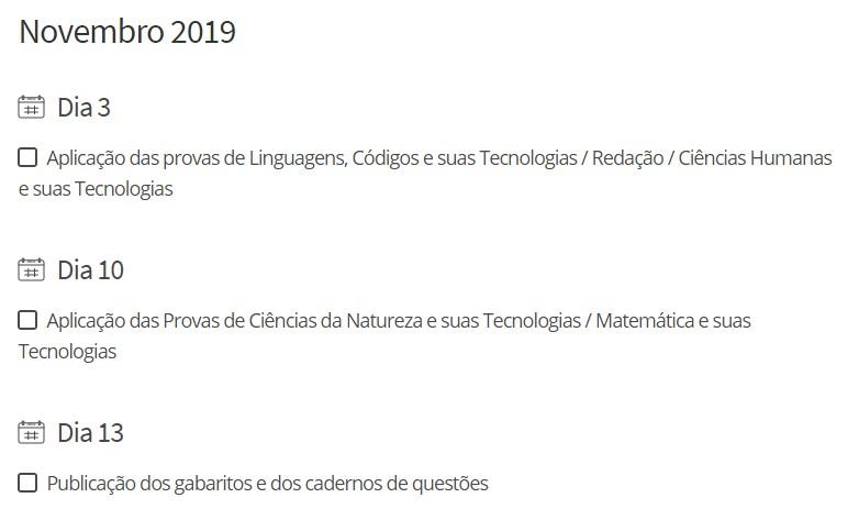 Fique de olho no calendário do Enem - Notícias - Plantão Diário