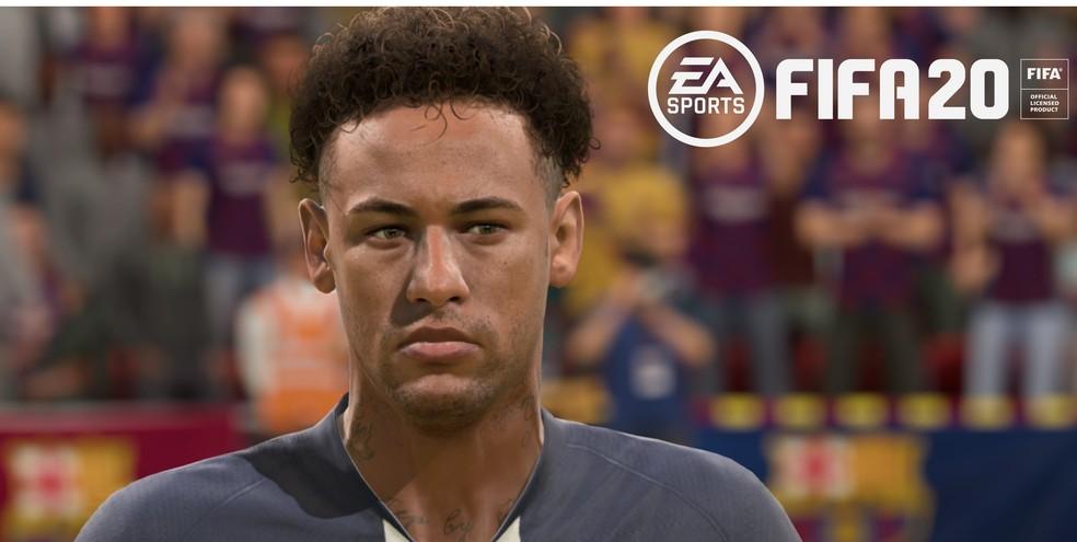 Neymar no FIFA 20 — Foto: Reprodução