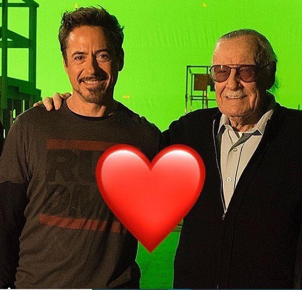 Robert Downey Jr. e Stan Lee (Foto: Instagram/Reprodução)