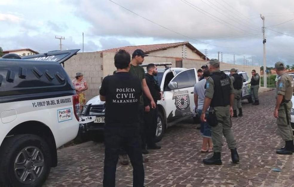 17 pessoas foram presas durante operação em Parnaíba, no litoral do Piauí — Foto: Kairo Amaral/TV Clube